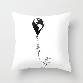 Fly the earth Throw Pillow