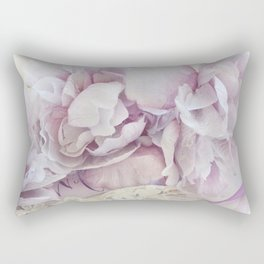 Dreamy Ethereal Lavender White Roses Print and Home Decor Rectangular Pillow