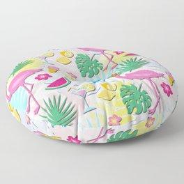 Aloha Pink Flamingo Art Floor Pillow