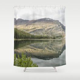 Where the Bears Roam - Many Glacier - Glacier NP Shower Curtain