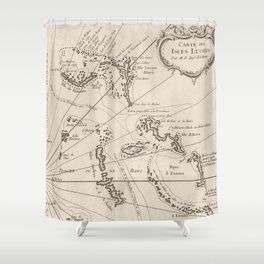 Vintage Map of The Bahamas (1764) Shower Curtain
