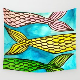 Mermaid Tails Wall Tapestry