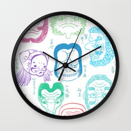 Joge-e: When Kawaii Wasn't a Thing in Japan Wall Clock