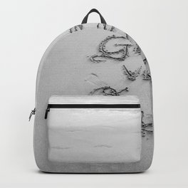 Good Vibes Only (Black and White) Backpack