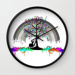 Colorless Raimbow Wall Clock