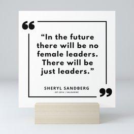 19  | Sheryl Sandberg Quotes | 190902 Mini Art Print