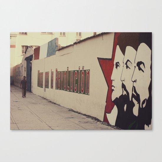 todo por la revolución Canvas Print