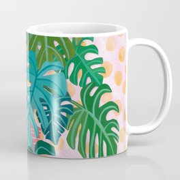 Split Leaf Philodendron Houseplant Painting Coffee Mug