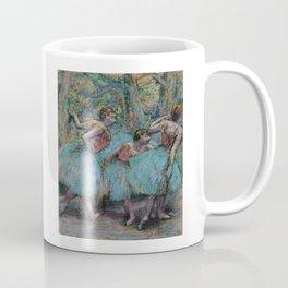 Edgar Degas - Three Dancers (Blue Tutus, Red Bodices) Coffee Mug