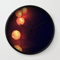 lanterns Wall Clocks featuring Lanterns by Designs by Jeffrey