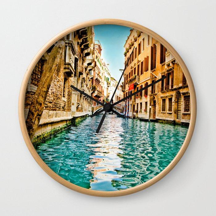 Streets of Venice Wall Clock