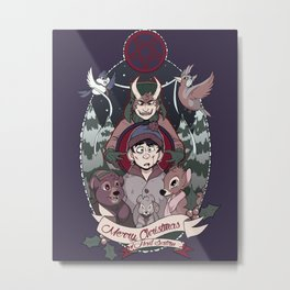 Merry Critter Christmas (South Park) Metal Print