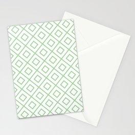 Mint Diamond Pattern 2 Stationery Cards