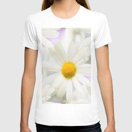 Daisy Flower Bouquet Pastel Color Background #decor #society6 #buyart T-shirt