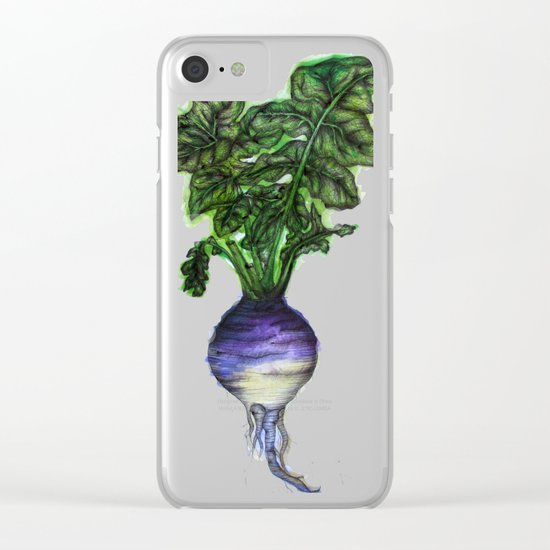 Rooted: The Rutabaga Clear iPhone Case