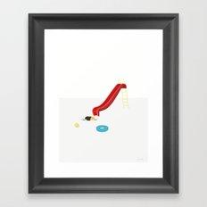 SVØMMETUR Framed Art Print