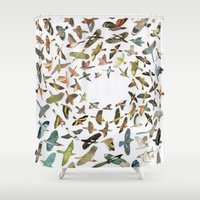 birds Shower Curtains featuring Birds by Ben Giles