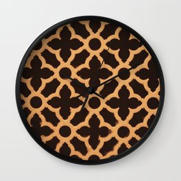gold pattern Wall Clock