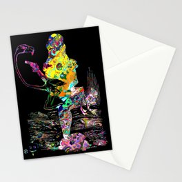 Psychedelic Alice silhouette Stationery Cards