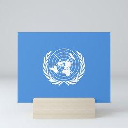 United Nations Flag Mini Art Print