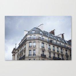 Paris Rooftop Canvas Print