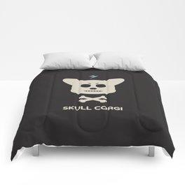 skull corgi Comforters