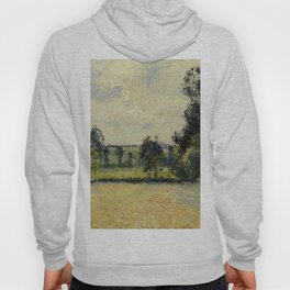 Field Of Oats In Eragny 1885 By Camille Pissarro | Reproduction | Impressionism Painter Hoody