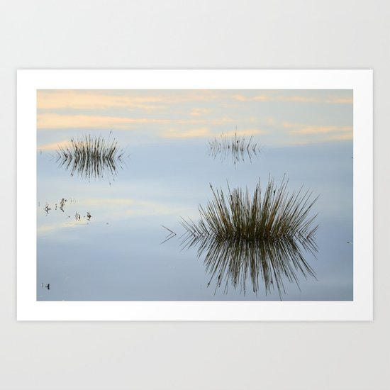Blue reflections Art Print