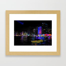 Bright City Framed Art Print