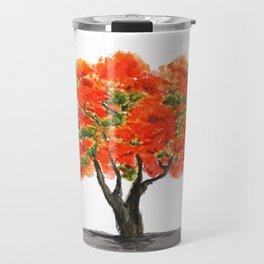 flame of the forest tree Travel Mug
