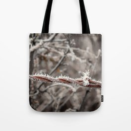 Frosty Barbed Wire Tote Bag
