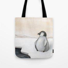 Wandering Penguin Tote Bag