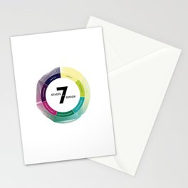 7 Stages of Design Stationery Cards