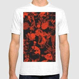 Demons N' Roses Toile in Black + Red T-shirt
