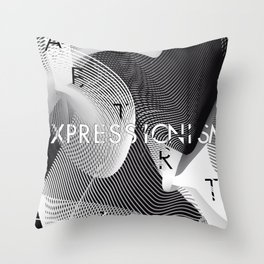 History of Art in Black and White. Expressionism Throw Pillow
