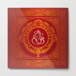 Hindu Elephant Pattern (Shree Ganesh) Metal Print
