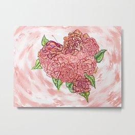 Heart of Rose Metal Print