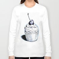 cupcakes Long Sleeve T-shirts featuring Cupcakes by A.Aenska-Cholpanova