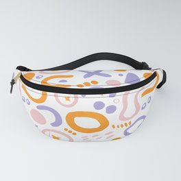 Abstract Pastel Doodles Fanny Pack