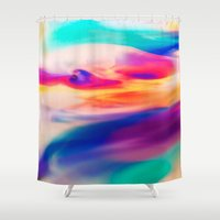 aurora Shower Curtains featuring Aurora by Kimsey Price