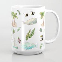 Tropical whales Coffee Mug
