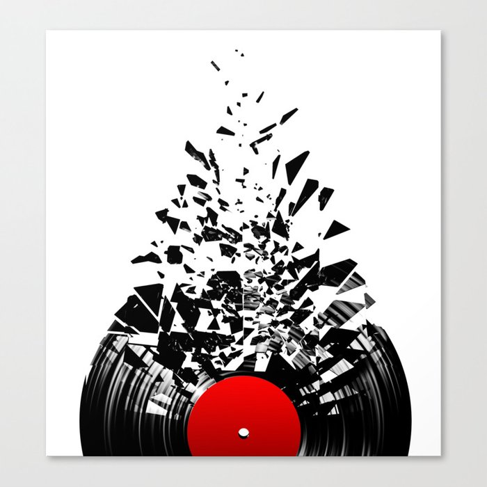 Vinyl shatter Canvas Print