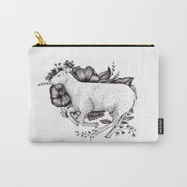 Sheep in leaves Carry-All Pouch