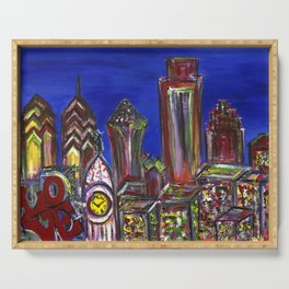 Philly Skyline LOVE Serving Tray