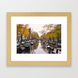 Autumn on Amsterdam's canals Framed Art Print