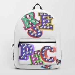 R – E – S – P – E – C – T – Pop Bulb Backpack
