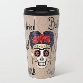 Frida Kahlo - Just keep Swimming Travel Mug