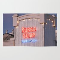 forrest gump Area & Throw Rugs featuring Bubba Gump by Umbrella Design