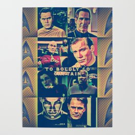 To Boldly Go Captain Poster