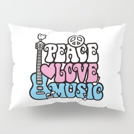 Peace-Love-Music Pillow Sham